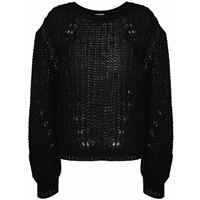P.A.R.O.S.H. oversized pointelle-knit jumper - nero