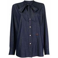 Jacob Cohen bow tie denim shirt - blu